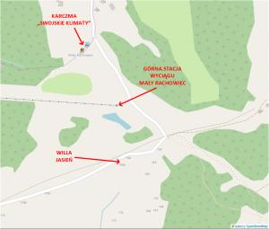 Willa Jasień - mapa
