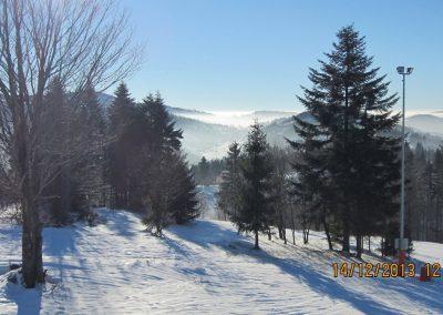 widok z trasy narciarskiej